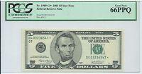 $5 2003 Star *  Chicago 320000 printed PCGS 66PPQ very short run #547* FRN