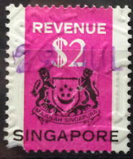 Singapore Used Revenue Stamps - $2 Stamp