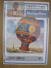 Heissluftballon Montgolfiere Schreiber-Bogen Kartonbausatz *NEU* Bastelbogen