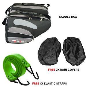 Extended Saddlebag Motorcycle Cordura Saddle Bag Grey 60L Motorcycle Luggage Box
