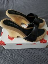 Two Lips Brigette Wedge Sandals Size 8 (Sold Separately) 1 Blk/1 Brown