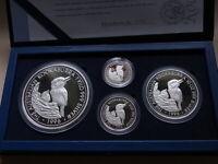Australia. 1996 - 4 Pce Silver Kookaburra Set. 1oz, 2oz, 10oz & 1 Kilo.. Proof