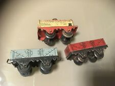 Hornby Meccano - O Gauge lot of 3 Wagons