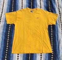 Vintage Nike Mini Swoosh Embroidered Travis Scott Yellow Shirt Size L