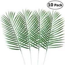 Big Green Palm Leaves Plastic Fake Plant Artificial Leaf Home Office Decor 10pcs