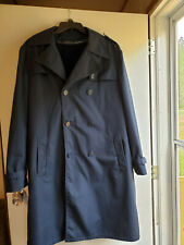 SEARS MENS STORE Trenchcoat Dark Blue Pile Lined Double Breasted Overcoat 42 T