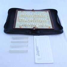 Scrabble Crossword Game Travel Folio Edition Zipper Case Locking Tiles Missing 2