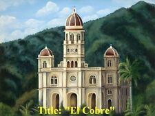"""Cuban Art . Oil Painting on Canvas """"El Cobre"""" 16"""" x 20"""" .  Signed by Artist."""