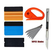 PRO Squeegee Felt Kit Car Vinyl Wrap Application Tools 10 Blades Window Tint USA