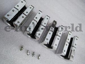 4 pcs SBR20LUU Dual Rounter Block Bearing for SBR20 Linear rail rod support
