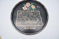 Vintage Nashco Products Hand Painted North Dakota Platter Plate Serving