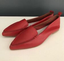 6a60a6e81998cd NEW Jeffrey Campbell Vionnet Smoking Flats Pointy Toe Loafer Size 7.5 Red