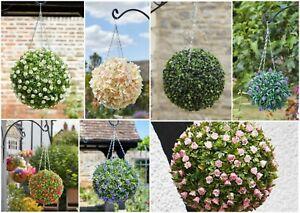 Premium Topiary Ball 30cm Rose Lily Hydrangea Lavender UV Resistant Hanging