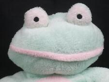 Ty Pluffies 2002 Grins Plush Mint Green & Pink Frog Crib Baby Soft Toy Mwot
