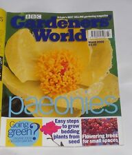 GARDENERS' WORLD MARCH 2000 - PAEONIES/FLOWERING TREES FOR SMALL SPACES