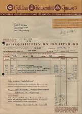 BERLIN N. 65, Rechnung 1938, Schokolade Goldina-Hauswaldt-Gaedke GmbH