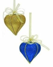 Weiste Blue & Gold Festive Christmas Tree Decorations set of 4  90822 NEW  20780