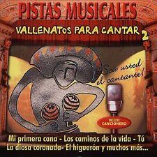 NEW Pistas Musicales (Vallenatos Para Cantar) Vol. 2 (Audio CD)