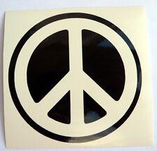 adesivo PACE peace sticker decal window retro vintage hippy flowers love beetle