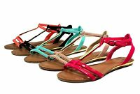 saili-27 New Flats Sandals Gladiator Casual Party Beach Colorful Women's Shoes