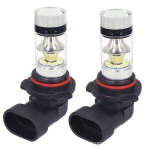 1 Pair 9140 9145 H10 HB3 9005 LED 100W 6000K White Driving DRL Fog Light Bulbs