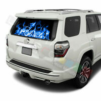 Flames Designs Window See Thru Stickers Perforated for Toyota 4Runner 2017 2018