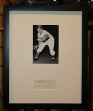 Vintage 1950s Sandy Koufax Signed Framed Cut Display HOF JSA Auth