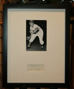 Vintage 1950s Sandy Koufax Signed Framed Cut Display HOF JSA Auth