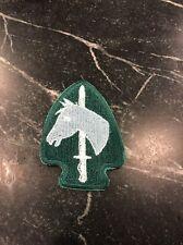 "Vietnam Cold War Era Patch Calvary Sword Horse Arrowhead Green 2.5"" Rare Vtg 80s"