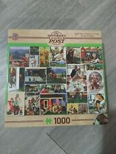 1000 piece Master Pieces Family Time puzzle Saturday Evening Post used games