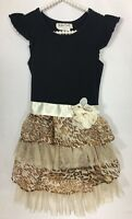 Rare Too Girls Dress Size 6 Party Holiday Animal Print Multi Color Knee Length