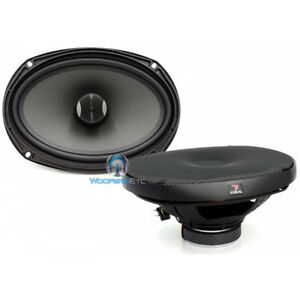 "FOCAL P690CV 6""X9"" POLYGLASS 80W RMS ROTATING ALUMINUM TWEETERS COAXIAL SPEAKERS"