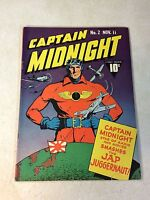 CAPTAIN MIDNIGHT #2 JAP JUGGERNAUT, SERGEANT TWILIGHT, 1942, VANISHING BOMBERS