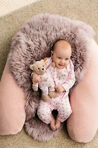 STEIFF Teddybär Mädchen beige mit Schlafanzug rosa Sterne 25 cm NEU 241659