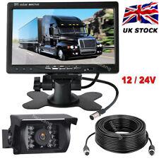 "4Pin Night Vision Reversing Camera 7"" HD Monitor Kit for Harvester Truck Tractor"
