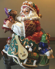 Fitz & Floyd Holiday Musicals Santa & Toys Christmas Music Box Toyland