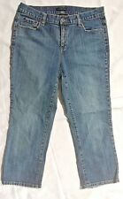 Axcess Womens Size 10 Capri Jeans Cropped Stretch Mid Rise 5 Pocket Medium Wash