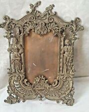 Antique Victorian Cast Bronze Metal Ornate Picture Photo Frame Roman Figural WoW