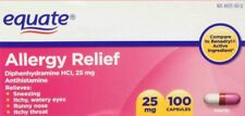 Equate Allergy Relief Diphenhydramine HCI, 25 mg 100 ct No box