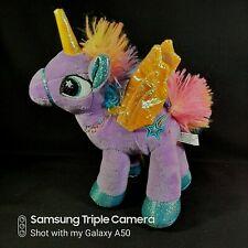 "My Little Pony 8"" Twilight Sparkle Purple Unicorn Shiny Plush Stuffed Toy"