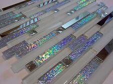 Glasmosaik Edelstahlmosaik Mosaik Metall effekt Fliese silber Brilliant perlmutt