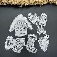 Metal Cutting Dies Christmas Clothes Craft Card Making Scrapbook Stencil Cutter