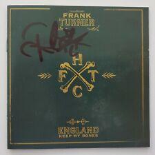 Frank Turner Signed England Keep My Bones CD Booklet Singer Songwriter RAD