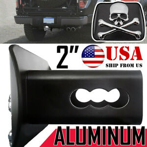 """2"""" Metal Trailer Tow Hitch Receiver Cover For Toyota Lexus Jeep GMC Ford Plug"""