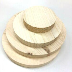Runde Holzscheibe Rund Holz Fichte Leimholz Platte Tischplatte Scheiben Wählbar