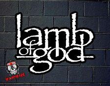 PEGATINA STICKER  ADESIVI AUFKLEBER AUTOCOLLANT  DECAL  LAMB OF GOD HEAVY METAL
