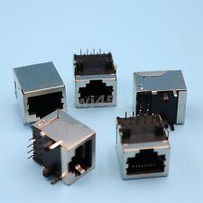 100Pcs RJ45 8P8C Female 8 Pin Network Ethernet Socket PCB Board Mount Connector
