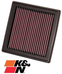 K&N REPLACEMENT AIR FILTER FOR NISSAN 370Z Z34 VQ37VHR 3.7L V6