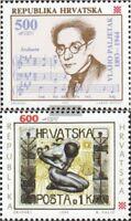 Kroatien 252,253 (kompl.Ausg.) postfrisch 1993 Sondermarken