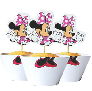 Minnie Mouse Birthday Cake Age Candle, Cake Topper, Party Decorations Supplies